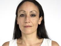 Portret kobiety kobiety Pracowniany model Zdjęcie Royalty Free