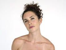 Portret kobiety kobiety Pracowniany model Fotografia Royalty Free