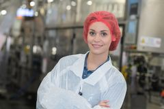 Portret kobiety pracownik fabryczny Obraz Stock