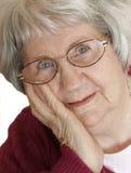 portret kobiety seniora obrazy stock