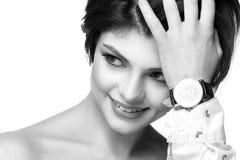 portret kobiety uśmiechnięci young czarny white zdjęcia stock