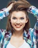 portret kobiety uśmiechnięta Obrazy Royalty Free