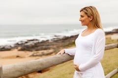portret kobiety w ciąży zdjęcia stock