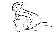portret kobiety young ilustracji