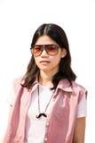 Portret kobiety z okularami przeciwsłonecznymi Obraz Royalty Free