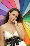 portret kolorowa kobieta Zdjęcie Royalty Free