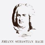 Portret kompozytor Johann Sebastian Bach royalty ilustracja