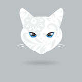 Portret kot z płaskim projektem również zwrócić corel ilustracji wektora Obraz Royalty Free