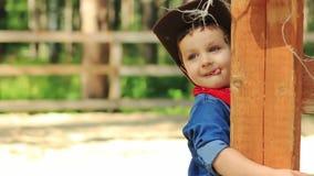 Portret kowboj troszkę zbiory wideo