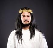 Portret królewiątko z koroną fotografia royalty free
