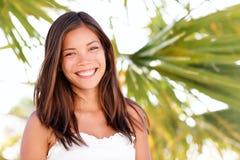 Portret lato kobiety portret Obraz Royalty Free