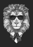 Portret lew w kostiumu Obrazy Stock