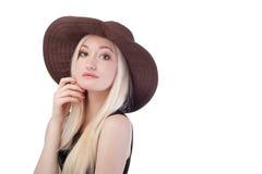 Portret śliczna blondynki kobieta Zdjęcie Royalty Free