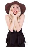Portret śliczna blondynki kobieta Obrazy Royalty Free
