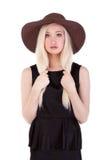 Portret śliczna blondynki kobieta Zdjęcia Royalty Free