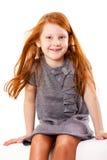Śliczna figlarnie mała dziewczynka Obrazy Royalty Free