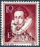 Portret Lope De Vega dramatopisarza poety sławny Hiszpański powieściopisarz i żołnierz piechoty morskiej fotografia stock