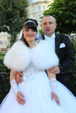 Portret ślub para Zdjęcia Stock