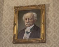 Portret Ludwig Moser, założyciel znany na całym świecie Moser szklana firma, Praga, republika czech obraz stock