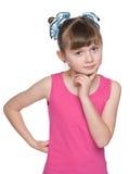 Portret mądra młoda dziewczyna zdjęcie stock