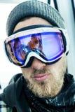 Portret mężczyzna przy ośrodkiem narciarskim Fotografia Stock