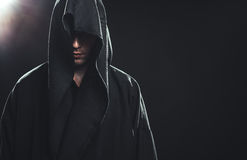 Portret mężczyzna w czarnym kontuszu Obraz Royalty Free