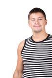 Portret mężczyzna w pasiastej kamizelce Zdjęcie Royalty Free