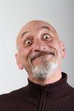 Portret mężczyzna z śmieszni wyrazy twarzy Fotografia Stock