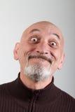 Portret mężczyzna z śmieszni wyrazy twarzy Obraz Stock