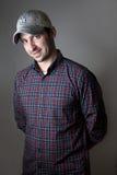 Portret mężczyzna z Baseballa Nakrętką Zdjęcia Stock