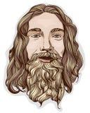 Portret mężczyzna z brodą royalty ilustracja