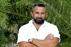 Portret mężczyzna z brodą obrazy royalty free