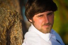 Portret mężczyzna z czarni włosy zdjęcie stock