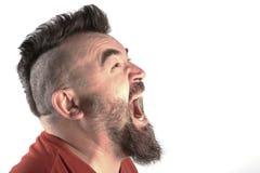 Portret mężczyzna z mohawk Zdjęcie Royalty Free