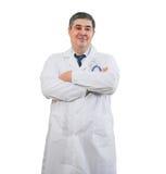 Portret męska lekarka na białym tle Zdjęcie Royalty Free