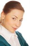Portret młoda atrakcyjna biznesowa kobieta. obrazy stock