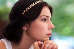 Portret młoda brunetki dziewczyna obrazy royalty free