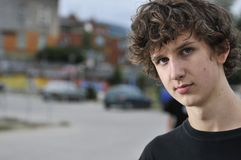 Portret młoda chłopiec Zdjęcie Royalty Free