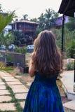 Portret młoda dziewczyna z wspaniałym włosy Obraz Stock