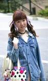 Portret młoda fanky japońska dziewczyna Obraz Royalty Free