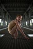 Portret młoda i pełen wdzięku balerina zdjęcie royalty free