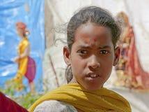 Portret młoda Indiańska dama zdjęcie royalty free