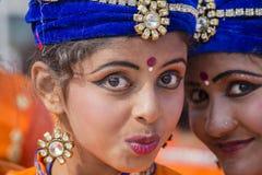 Portret młoda Indiańska dziewczyna w New Delhi, India Fotografia Stock