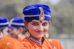 Portret młoda Indiańska dziewczyna w New Delhi, India Zdjęcie Stock