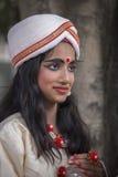 Portret młoda Indiańska dziewczyna w New Delhi, India Obraz Royalty Free