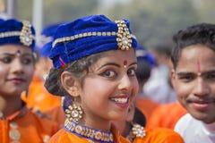 Portret młoda Indiańska dziewczyna w New Delhi, India Zdjęcia Stock