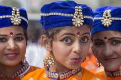 Portret młoda Indiańska dziewczyna w New Delhi, India Fotografia Royalty Free
