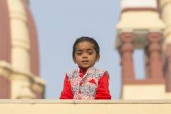 Portret młoda Indiańska dziewczyna w New Delhi, India Zdjęcie Royalty Free