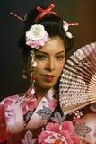 Portret młoda Japońska dama zdjęcia royalty free