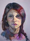 Portret młoda kobieta obrazy royalty free
